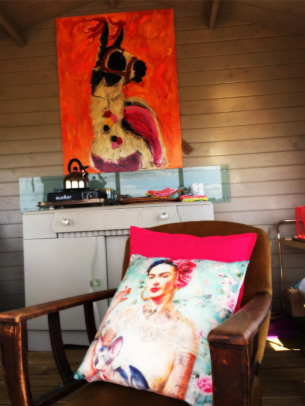 Interior of the LLama Lounge - The LLama Experience